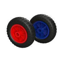 Polyurethane Wheel Ø 160 mm plain bearing, PUNCTURE PROOF
