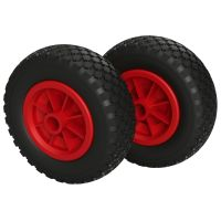 2 x Polyurethane Wheel Ø 200 mm 2.50-4 plain...