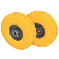 2 x PU Wheel Ø 260 mm 3.00-4 Ball Bearing, PUNCTURE...