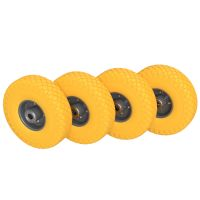 4 x PU Wheel Ø 260 mm 3.00-4 Ball Bearing, PUNCTURE...