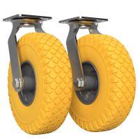 2 x Rueda orientable con rueda de poliuretano Ø...
