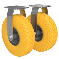 2 x Not-steerable Caster with PU Wheel Ø 260 mm 3.00-4...