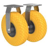2 x Ikke-styrbar hjul med polyuretanhjul Ø 260 mm...