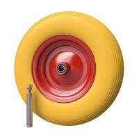 Polyurethane Wheel Ø 400 mm 4.80/4.00-8, Wheelbarrow,...