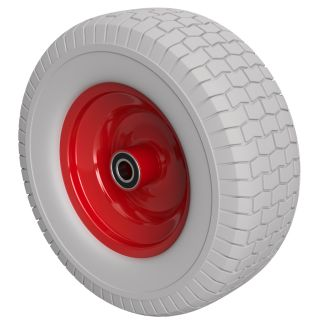PU Wheel Ø 400 mm 16 x 6.50-8, 2 Ball Bearings, PUNCTURE PROOF
