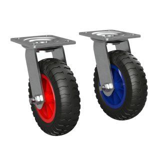 Styrbar hjul med polyuretanhjul Ø 160 mm, PUNKTURBEVIS