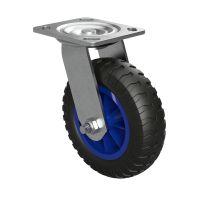 1 x Styrbar hjul med polyuretanhjul Ø 160 mm,...
