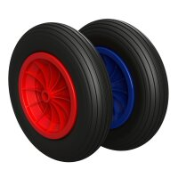 Polyurethane Wheel Ø 350 mm 3.50-8 plain bearing,...