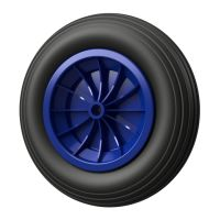 1 x PU Wheel Ø 350 mm 3.50-8 plain bearing, PUNCTURE...