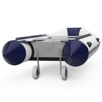 Ruedas de botadura, de barco, lanzamiento, SUPROD ET260, Acero inoxidable, gris/azul