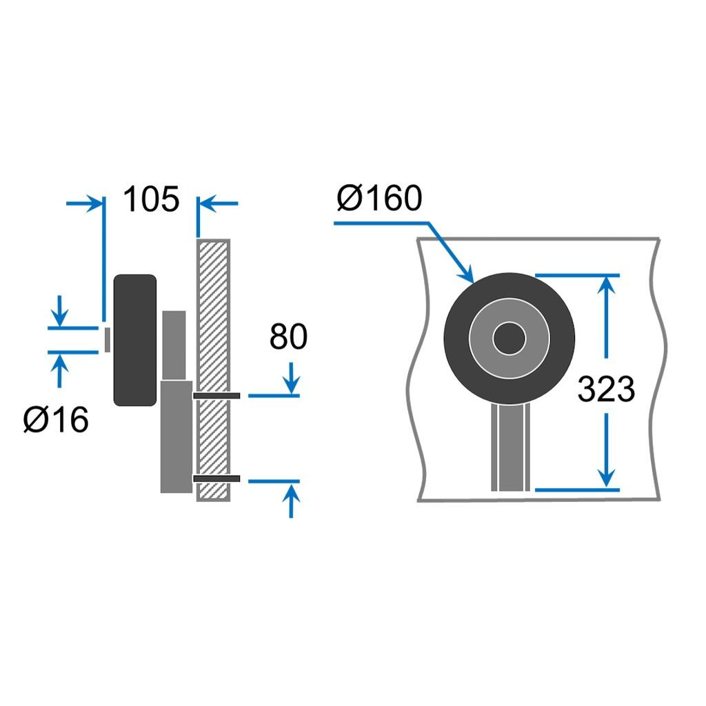 Stainless Steel SUPROD LD160 Launching Wheels for small Dinghies