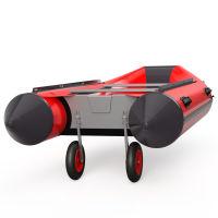 Ruedas de botadura, de barco, lanzamiento, SUPROD ET350, Acero inoxidable, negro/rojo