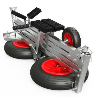 Foldable Launching Trolley, Dinghy Trolley, Hand Trailer, SUPROD TR350