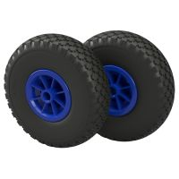 2 x Polyurethane Wheel Ø 260 mm 3.00-4 plain...
