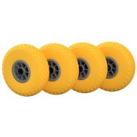 4 x PU Wheel  Ø 260 mm 3.00-4 Needle Bearing, PUNCTURE...