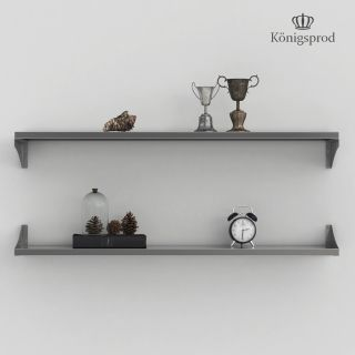 Stainless Steel Wall Shelf, Kitchen, Bookshelf, KÖNIGSPROD Asteria