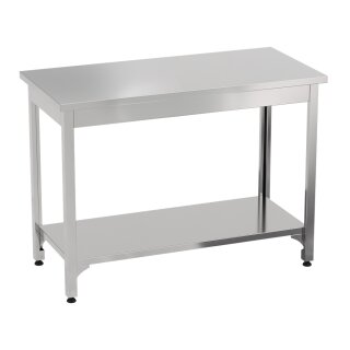 Stainless steel table, table, base, work table, KÖNIGSPROD Asteria