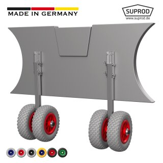 Launching Wheels, with double wheels, SUPROD EW200, stainless steel