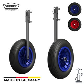 Launching Wheels with PNEUMATIC WHEELS, Dinghy Wheels, SUPROD ET350-LU, Stainless Steel
