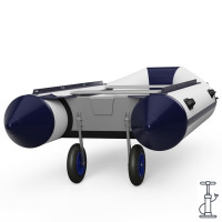 Ruedas de botadura, de barco, lanzamiento, SUPROD ET350-LU, Acero inoxidable