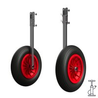 Launching Wheels  with PNEUMATIC WHEELS, extra big,...