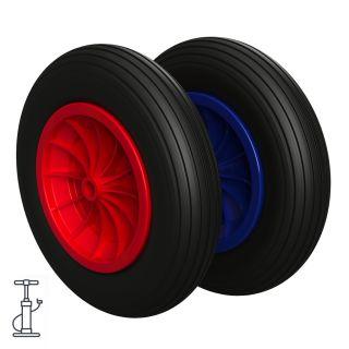 Pneumatisk hjul Ø 370 mm 3.50-8 glidelager, Trillebår