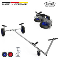 Foldable Launching Trolley with PNEUMATIC WHEELS, Dinghy...