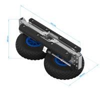 Wózek kajakowy, Wózek SUP, SUPROD KW260, aluminium