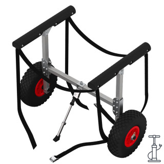 Kayak trolley with PNEUMATIC WHEELS, Canoe cart, SUP, SUPROD KW260-LU, aluminum