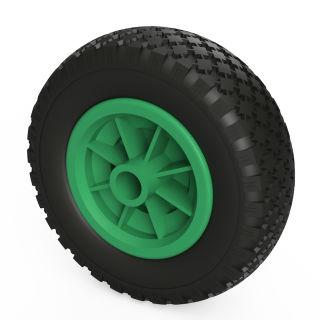1 ruota PU (nero / verde)