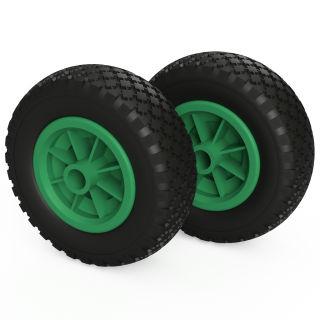 2 ruote PU (nero / verde)