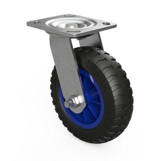 1 x svänghjul med PU-hjul (svart / blå)