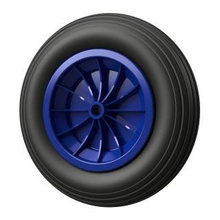 1 x PU-hjul (svart / blå)