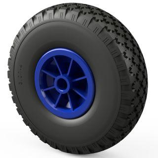 1 x PU hjul (sort / blå)