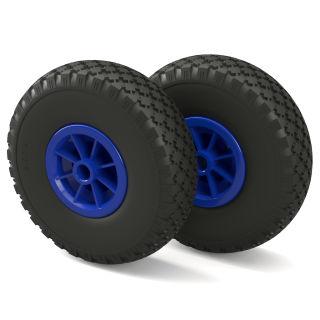 2 x PU hjul (sort / blå)