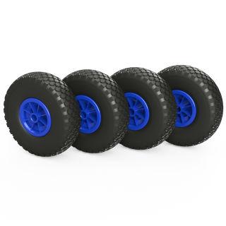 4 x PU hjul (sort / blå)