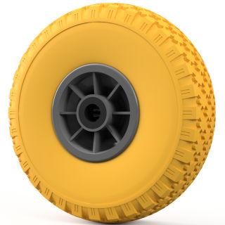 1 x PU-hjul (gul / grå)