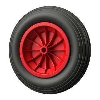 1 x PU-hjul (svart / rött)