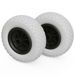2 ruote PU (grigio / nero)