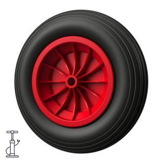 1 x hjul (svart / rødt)