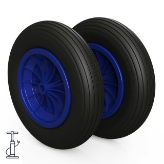 2 x hjul (svart / blå)
