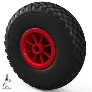 1 x wiel (zwart / rood)