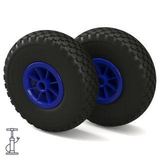 2 x hjul (sort / blå)