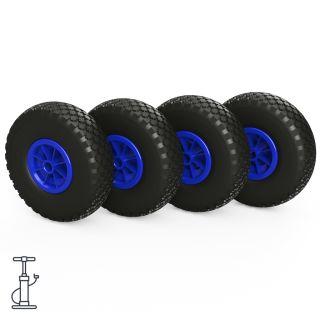 4 x hjul (sort / blå)