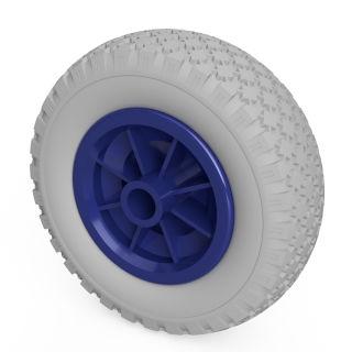1 x PU-hjul (grå / blå)
