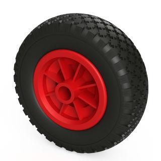 1 ruota PU (nero / rosso)