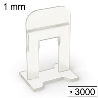 3000 Clips (1 mm)