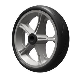 1 ruota PU (nero / grigio)