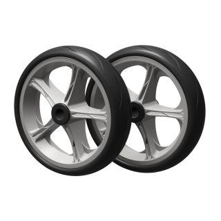 2 x roue PU (noir / gris)