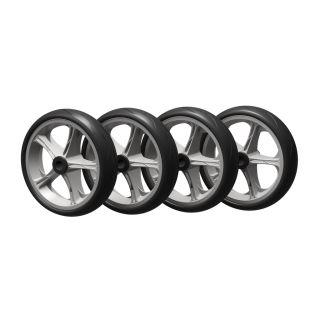 4 ruote PU (nero / grigio)